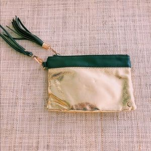 Madison West gold wristlet clutch - BNWT